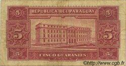 5 Guaranies PARAGUAY  1952 P.186c TB