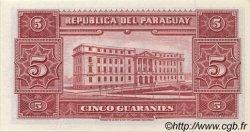 5 Guaranies PARAGUAY  1952 P.186c NEUF