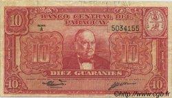 10 Guaranies PARAGUAY  1952 P.187b TTB