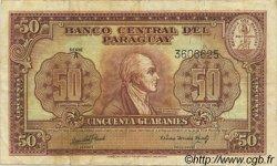 50 Guaranies PARAGUAY  1952 P.188b TTB