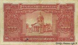 500 Guaranies PARAGUAY  1952 P.190a TB+