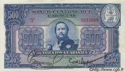 500 Guaranies PARAGUAY  1952 P.190a SPL