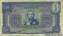 500 Guaranies PARAGUAY  1952 P.190b TB+