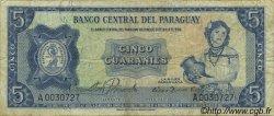 5 Guaranies PARAGUAY  1963 P.194 TB