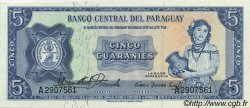 5 Guaranies PARAGUAY  1963 P.194 SPL