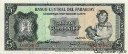 5 Guaranies PARAGUAY  1963 P.195a NEUF