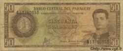 50 Guaranies PARAGUAY  1963 P.197b B