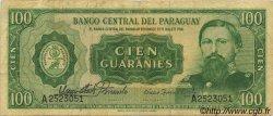 100 Guaranies PARAGUAY  1963 P.198a TB