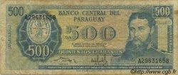 500 Guaranies PARAGUAY  1982 P.206 B+