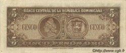 5 Pesos RÉPUBLIQUE DOMINICAINE  1947 P.061 TTB