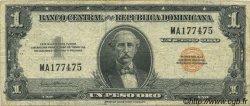 1 Peso RÉPUBLIQUE DOMINICAINE  1957 P.071 TB