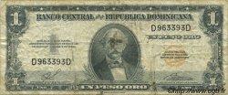 1 Peso RÉPUBLIQUE DOMINICAINE  1958 P.080 TB