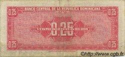 25 Centavos Oro RÉPUBLIQUE DOMINICAINE  1961 P.087a TB