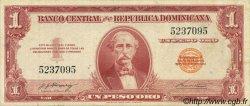 1 Peso Oro RÉPUBLIQUE DOMINICAINE  1962 P.091a TTB