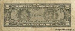 10 Pesos Oro RÉPUBLIQUE DOMINICAINE  1962 P.093a TB