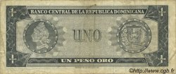 1 Peso Oro RÉPUBLIQUE DOMINICAINE  1964 P.099a TB