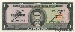 1 Peso Oro RÉPUBLIQUE DOMINICAINE  1964 P.099s NEUF