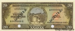 20 Pesos Oro RÉPUBLIQUE DOMINICAINE  1964 P.102s NEUF