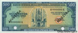 500 Pesos Oro RÉPUBLIQUE DOMINICAINE  1964 P.105s NEUF