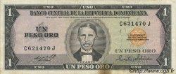 1 Peso Oro RÉPUBLIQUE DOMINICAINE  1973 P.107 TTB+