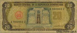 20 Pesos Oro RÉPUBLIQUE DOMINICAINE  1985 P.120c B+
