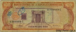 100 Pesos Oro RÉPUBLIQUE DOMINICAINE  1981 P.122a B