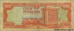 100 Pesos Oro RÉPUBLIQUE DOMINICAINE  1984 P.122b B+