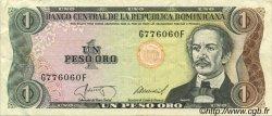 1 Peso Oro RÉPUBLIQUE DOMINICAINE  1987 P.126a TTB+