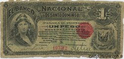 1 Peso RÉPUBLIQUE DOMINICAINE  1889 PS.131a AB