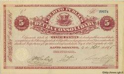 5 Pesos RÉPUBLIQUE DOMINICAINE  1876 PS.161 SPL