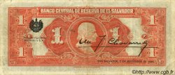 1 Colon SALVADOR  1943 P.075 SUP