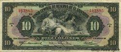 10 Colones SALVADOR  1934 P.078 TB+