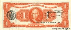1 Colon SALVADOR  1963 P.100a SUP