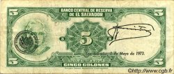 5 Colones SALVADOR  1970 P.111b TTB