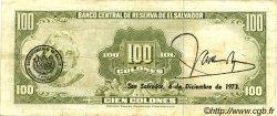 100 Colones SALVADOR  1970 P.114a TTB