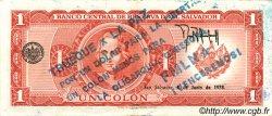 1 Colon SALVADOR  1977 P.125a SUP