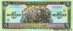 5 Colones SALVADOR  1977 P.126a NEUF