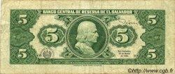 5 Colones SALVADOR  1988 P.134b TB