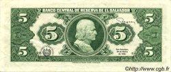 5 Colones SALVADOR  1988 P.134b TTB+