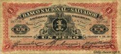 1 Peso SALVADOR  1913 PS.161b pr.TB