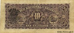 10 Pesos SALVADOR  1908 PS.163b TB