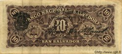 10 Pesos SALVADOR  1911 PS.163b TTB