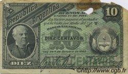10 Centavos ARGENTINE  1884 P.006 B+