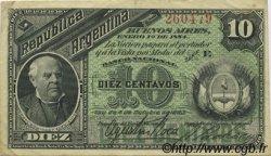 10 Centavos ARGENTINE  1884 P.006 SUP