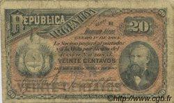 20 Centavos ARGENTINE  1884 P.007a B