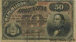 50 Centavos ARGENTINE  1884 P.008 TB