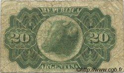 20 Centavos ARGENTINE  1891 P.211b B+