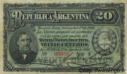 20 Centavos ARGENTINE  1891 P.211b pr.SUP