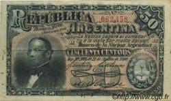 50 Centavos ARGENTINE  1891 P.212A TTB