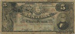 5 Pesos ARGENTINE  1895 P.220a B